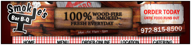 BBQ Delivery Website Header